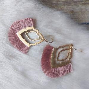 Art Deco Fringe Earrings
